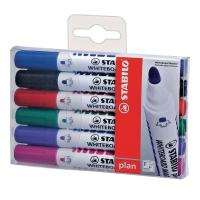 STABILO ปากกาไวท์บอร์ด PLAN หัวกลม 2.5มม. แพ็ค 6 คละสี