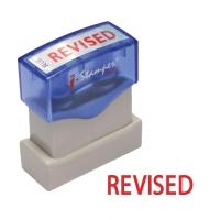 I-STAMPER R06 SELF INKING STAMP   REVISE   ENGLISH LANGUAGE - RED