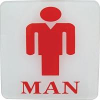 PLANGO ป้ายข้อความอะคริลิค   MAN   ขนาด 4นิ้ว x 4นิ้ว
