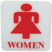 PLANGO ป้ายข้อความอะคริลิค   WOMEN   ขนาด 4นิ้ว x 4นิ้ว