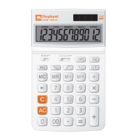 ELEPHANT M02-12D-W DESKTOP CALCULATOR 12 DIGITS