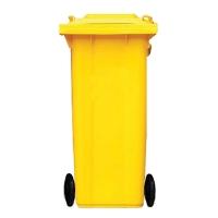 ถังขยะกทม ชนิดฝาเรียบ ความจุ 240ลิตร สีเหลือง