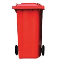 ถังขยะกทม ชนิดฝาเรียบ ความจุ 240ลิตร สีแดง