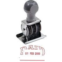 ART D-4R   PAID   RUBBER DATE STAMP ENGLISH LANGUAGE