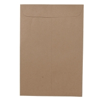 OPEN-END ENVELOPE BA KARFT SIZE 114MMX178MM 110GRAM BROWN - PACK OF 50