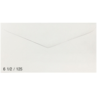 NUMBER 6 1/2 /125 ENVELOPE BARONIAL 70GRAM SIZE 95MM X 165MM WHITE - PACK OF 500