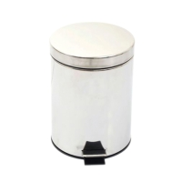 ORCA P001 STAINLESS WASTE BIN WITH LID 5 LITRES