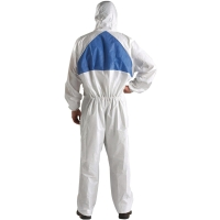 3M 4540 COVERALL CHEMICAL PROTECTION SIZE L WHITE/BLUE