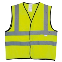 3M 2925 FLU LIME YELLOW SAFETY VEST SIZE M