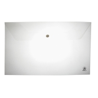 ORCA F-120 PLASTIC ENVELOPE WITH BUTTON F PACK OF 12 WHITE