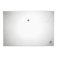 ORCA A-120 PLASTIC ENVELOPE WITH BUTTON A4 PACK OF 12 WHITE