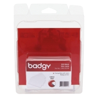 BADGY PRINTABLE BADGE 0.50MM 53.98X85.60MM - PACK OF 100