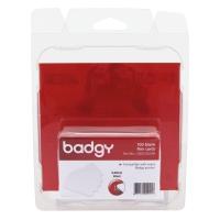 BADGY บัตรแข็งสำหรับพิมพ์ หนา 0.50มม. - 1 แพ็ค บรรจุ 100 ใบ