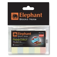 ELEPHANT PAPER FLAGS 12MM X 50MM 4 PASTEL COLOURS 600 FLAGS