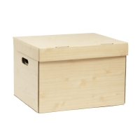 PAPERARTกล่องเก็บเอกสารลายไม้พาเลท 37X44X30 เซนติเมตร 1 แพ็ค บรรจุ 2 กล่อง
