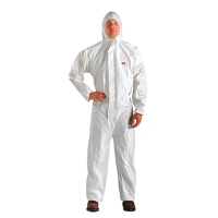 3M 4510 COVERALL CHEMICAL PROTECTION SIZE M WHITE