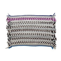 FM001 KNITTED FLOOR MAT 42X50CM ASSORTED COLOURS