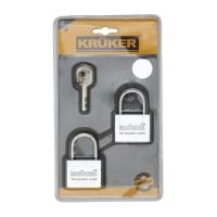 KRUKER กุญแจแขวน คอสั้น 40มม ALIKE 2ตัว/ชุด