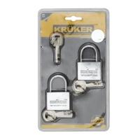 KRUKER กุญแจแขวนมาสเตอร์คีย์ คอสั้น 40มม 2ตัว/ชุด