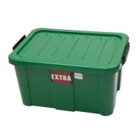 กล่องพลาสติกอเนกประสงค์แบบมีฝาปิด Q-BOX 90 45 ลิตร  40x50x42 ซม. คละสี