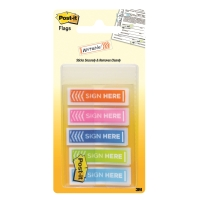 POST-IT 684-SH-OPBLA SIGN HERE FLAGS 0.5   X 1.7   ASSORTED 5 COLORS