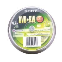 SONY DVD+RW 120 MIN 4.7GB 16X SPINDLE BOX OF 10
