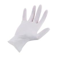 SAFE-FLEX POWDER-FREE GLOVES LATEX PAIR MEDIUM WHITE PACK OF 50