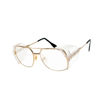 EAGLE แว่นตานิรภัย NV-9233 GLDC เลนส์ใส กรอบทอง