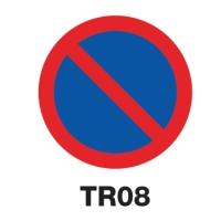 ป้ายจราจร TR08 อลูมิเนียม 60 เซนติเมตร
