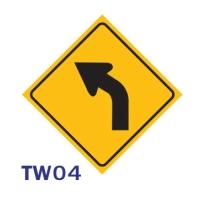 ป้ายจราจร TW04 อลูมิเนียม 45X45 เซนติเมตร