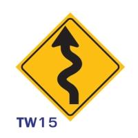 ป้ายจราจร TW15 อลูมิเนียม 45X45 เซนติเมตร