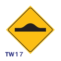 ป้ายจราจร TW17 อลูมิเนียม 45X45 เซนติเมตร