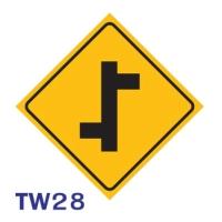 ป้ายจราจร TW28 อลูมิเนียม 45X45 เซนติเมตร
