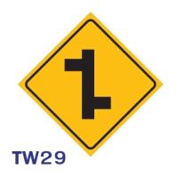 ป้ายจราจร TW29 อลูมิเนียม 45X45 เซนติเมตร