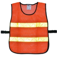 YAMADA OR-6045U TRAFFIC VEST 60X45 CENTIMETERS ORANGE