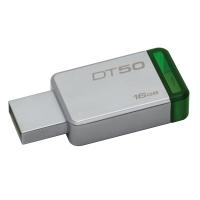 KINGSTON แฟลชไดรฟ์ DT50 16 GB เขียว