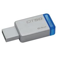 KINGSTON แฟลชไดรฟ์ DT50 64 GB น้ำเงิน
