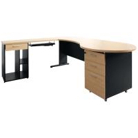 ACURA โต๊ะทำงานไม้ PANEL PLUS เมเปิ้ล/ดำ ซ้าย