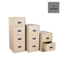 LUCKY D744 STEEL FILING CABINET 4 DRAWERS GREY