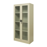ZINGULAR ZSG-756 STEEL SWING DOOR CABINET WITH GLASS CREAM