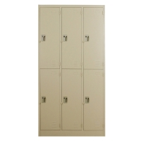 LUCKY LK-6106 STEEL LOCKER 6 DOORS CREAM