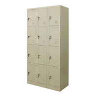 ZINGULAR ZLK-6112 STEEL LOCKER 12 DOORS CREAM