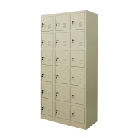 ZINGULAR ZLK-6118 STEEL LOCKER 18 DOORS CREAM