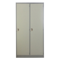 METALPRO MET-6102N STEEL LOCKER 2 DOORS GREY