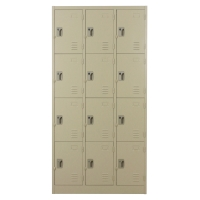 METALPRO MET-6112N STEEL LOCKER 12 DOORS CREAM