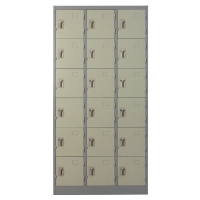 METALPRO MET-6118N STEEL LOCKER 18 DOORS GREY