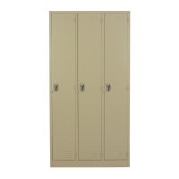 METALPRO MET-6103N STEEL LOCKER 3 DOORS CREAM