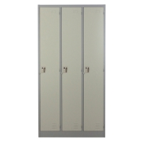 METALPRO MET-6103N STEEL LOCKER 3 DOORS GREY