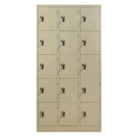 METALPRO MET-6115N STEEL LOCKER 15 DOORS CREAM