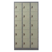 METALPRO MET-6115N STEEL LOCKER 15 DOORS GREY